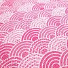 bavlněná látka velké červené vlnky (2)