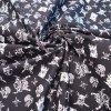 bavlněná látka černé lebky (3)