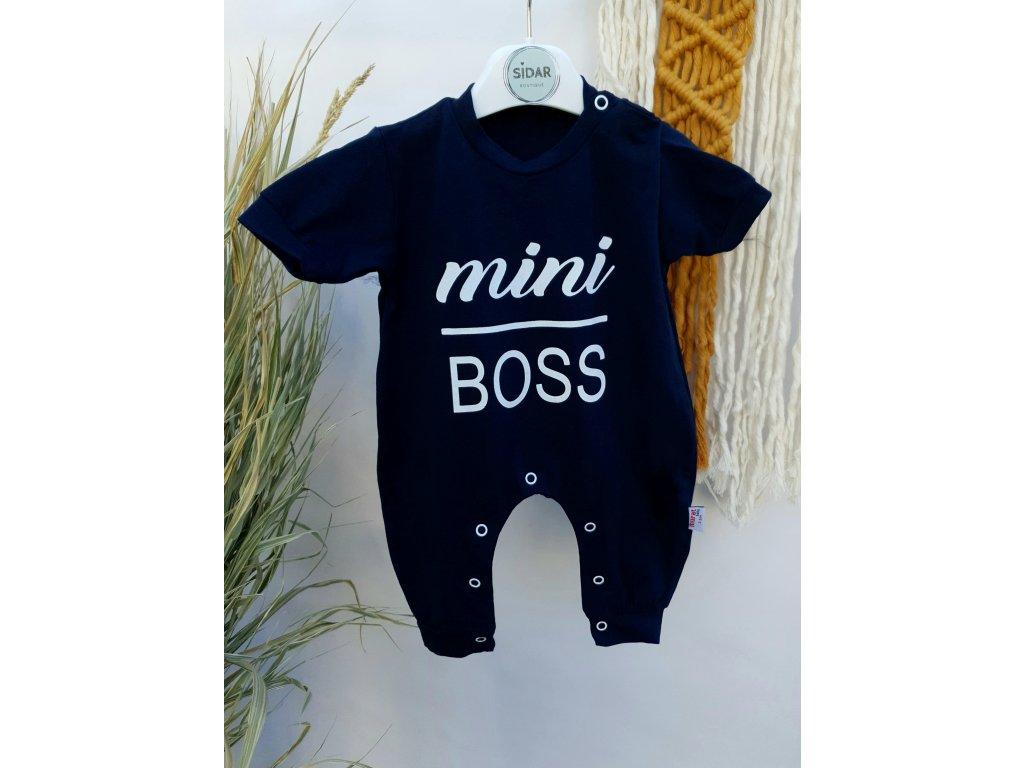 Overal Mini Boss tmavě modrý