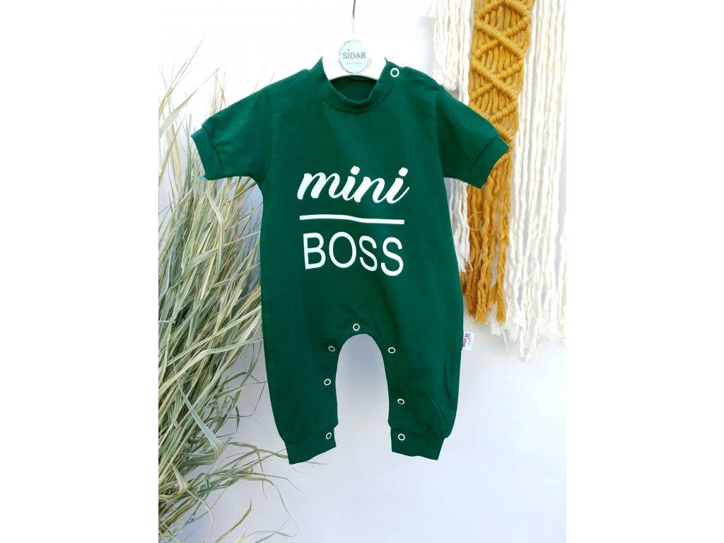 Overal Mini Boss tmavě zelený