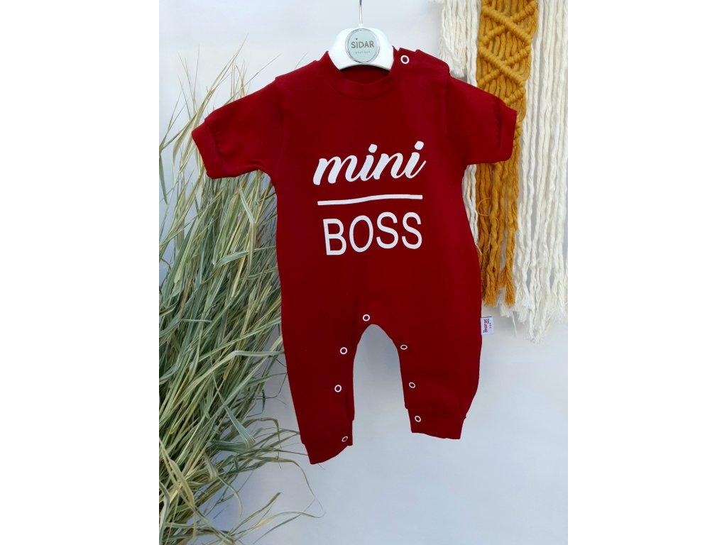 Overal Mini Boss vínově červený