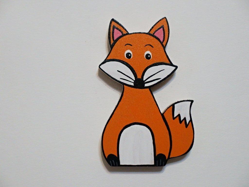 Dřevěný magnet Liška