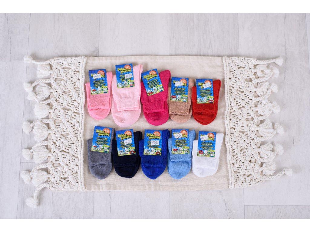100% bavlněné dětské ponožky velikost 14 - 21