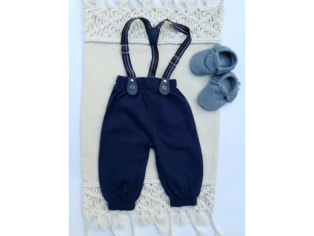 Sváteční kalhoty s kšandami