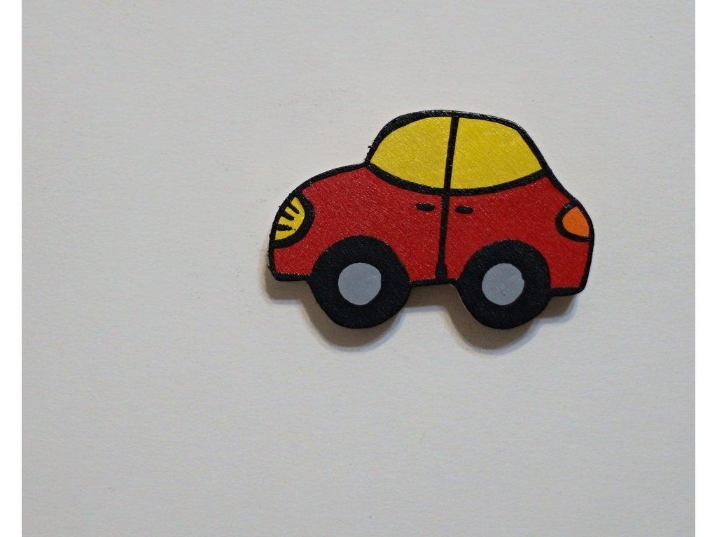 Dřevěný magnet Auto