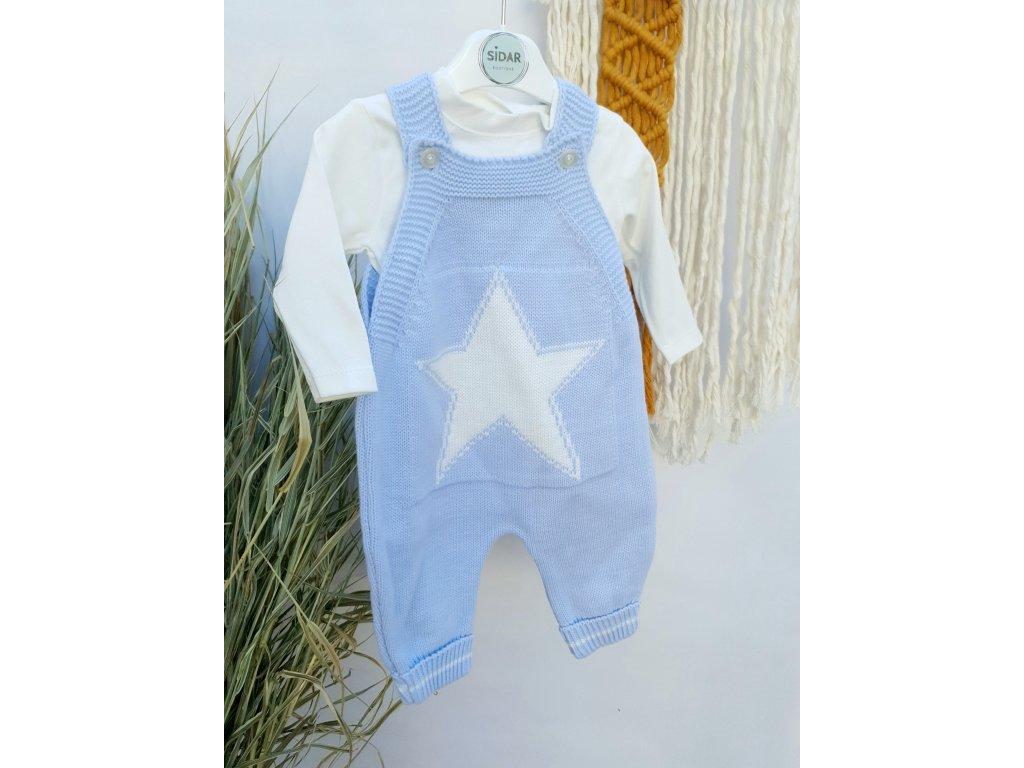 Souprava kalhot s laclem Hvězda modrá