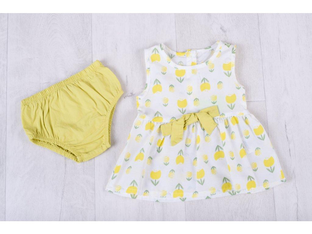 Květinový letní set žlutý