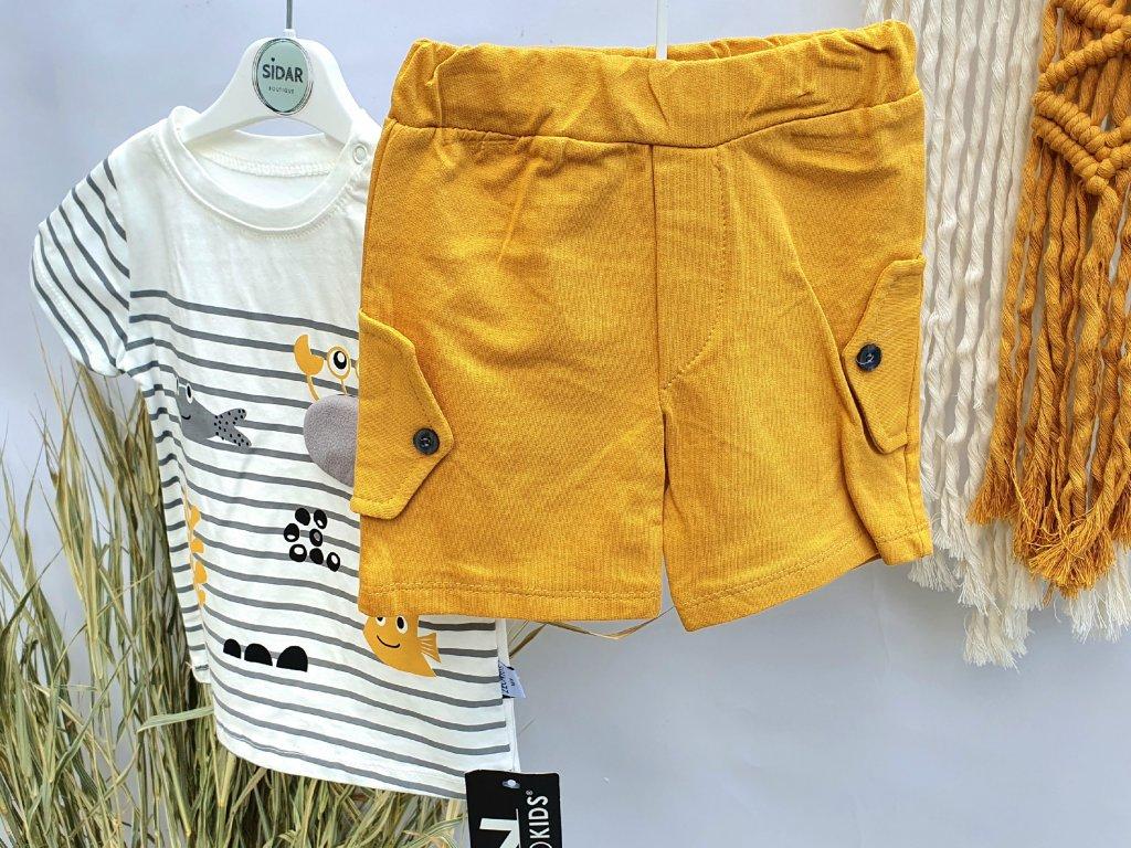 Letní set trička a kraťasů žluté moře