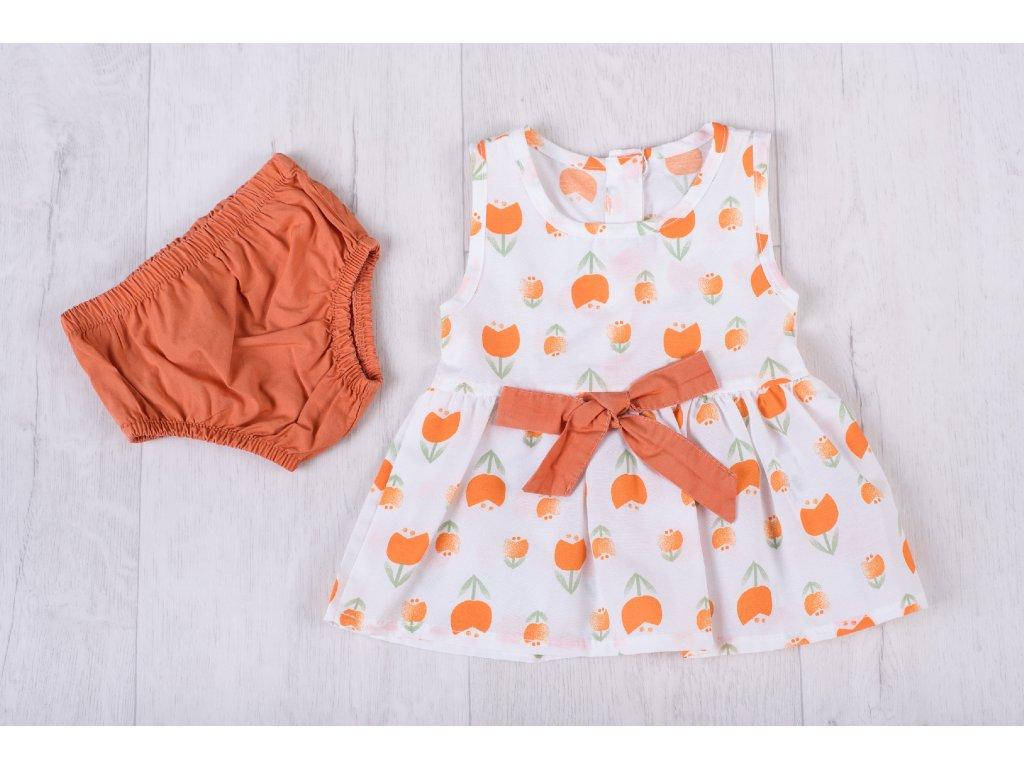 Květinový letní set oranžový