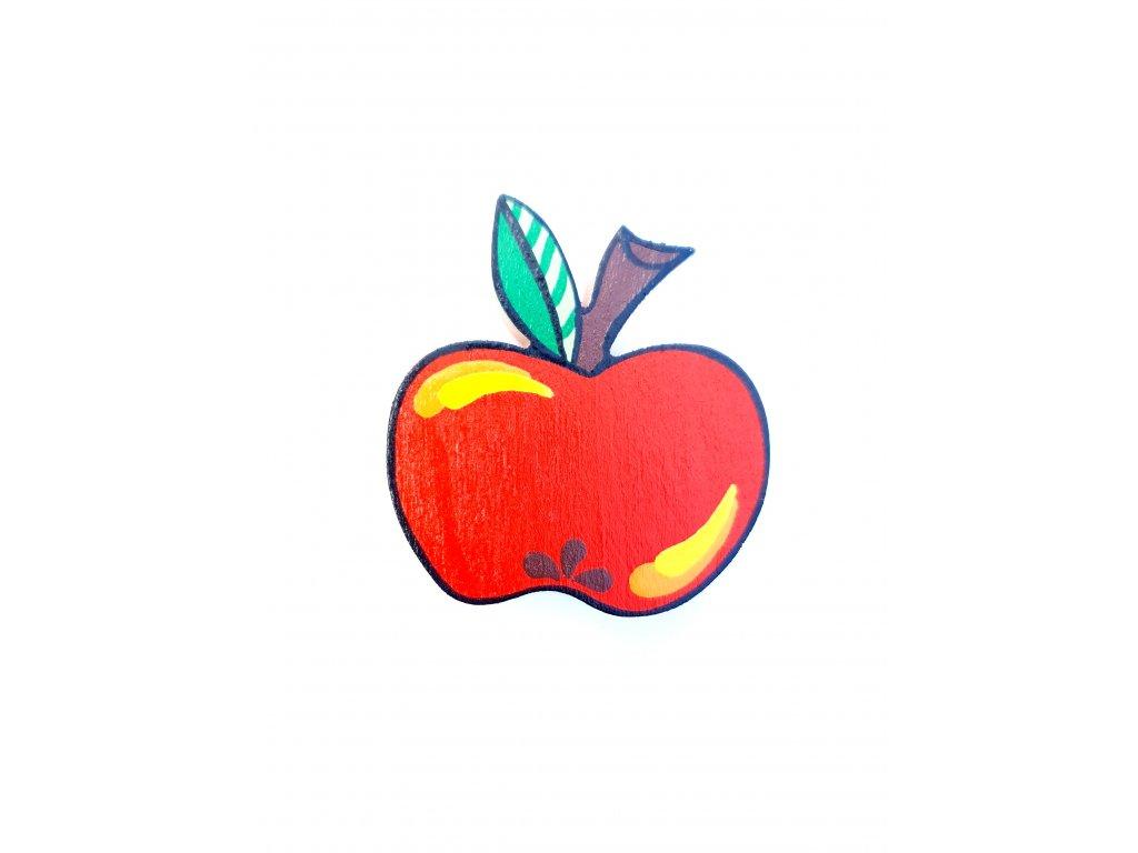 Dřevěný magnet Jablko