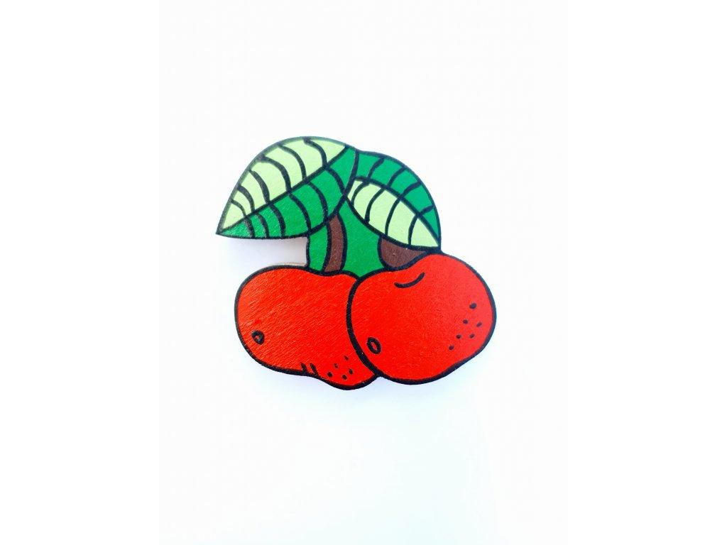 Dřevěný magnet Třešně