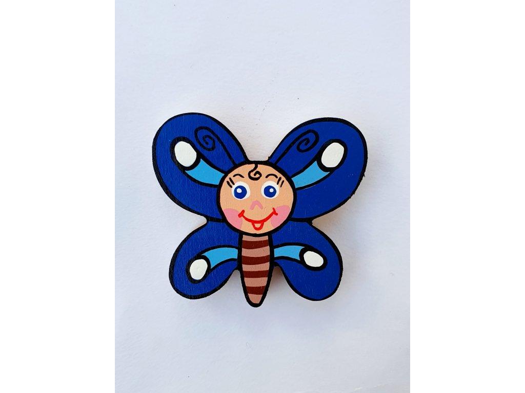 Dřevěný magnet Motýlek