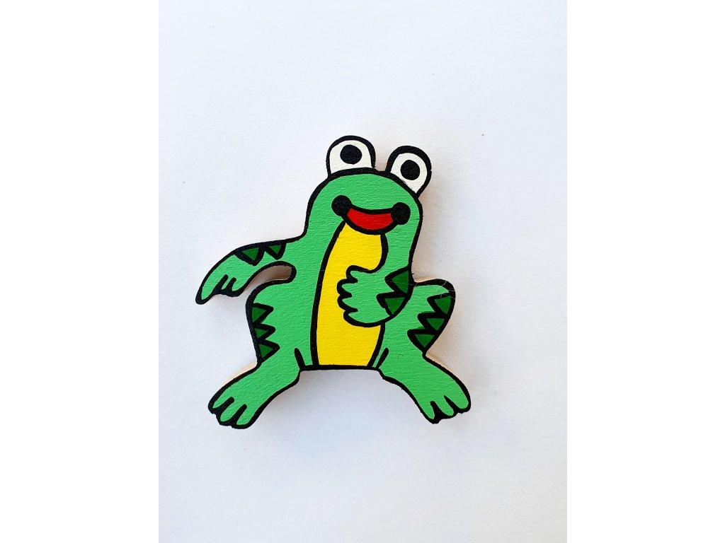Dřevěný magnet Žába