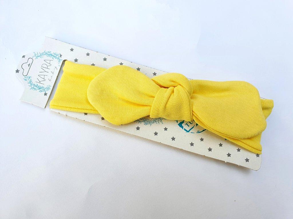 Dívčí čelenka žlutá