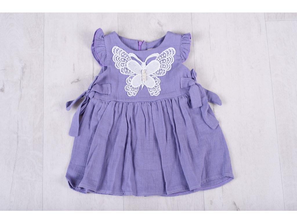 Dívčí letní šaty fialové