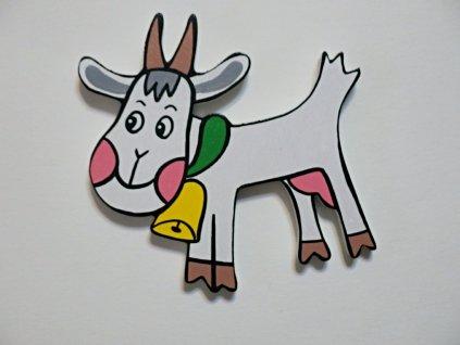 Dřevěný magnet Koza