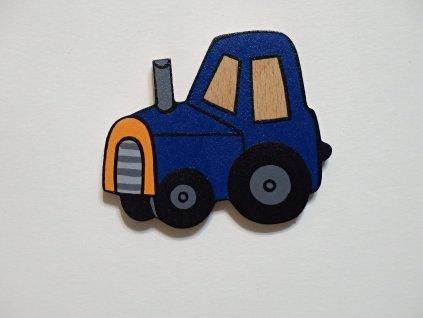 Dřevěný magnet Traktor