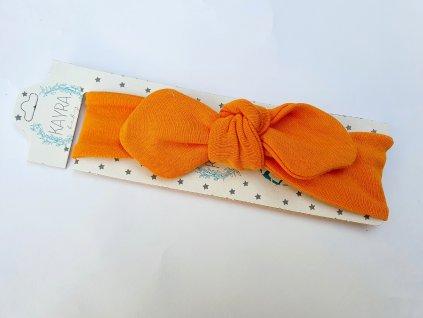Dívčí čelenka oranžová