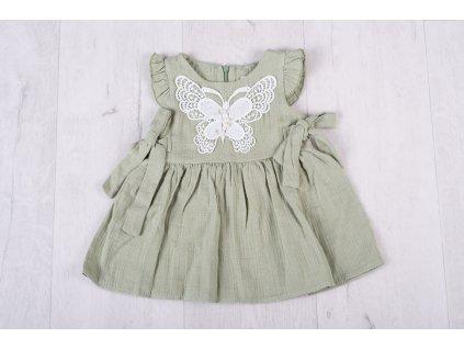 Dívčí letní šaty zelené