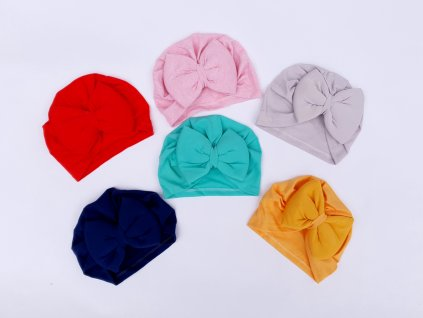 Dívčí turban s mašlí
