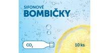 Sifonové bombičky SIFOS 8 gr CO2 plnitelné - 10 ks - komplet