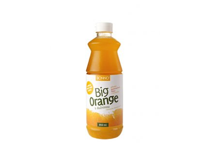 Sirup - nápojový koncentrát BigDrinks Big Orange - 0,85 litru