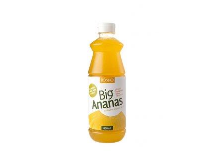 Sirup - nápojový koncentrát BigDrinks Big Ananas - 0,85 litru