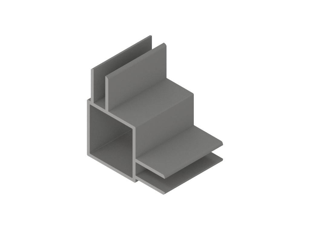 2807712 signtech hliníkový profil rovný pro rámy dvě drážky nextline N2530 elox