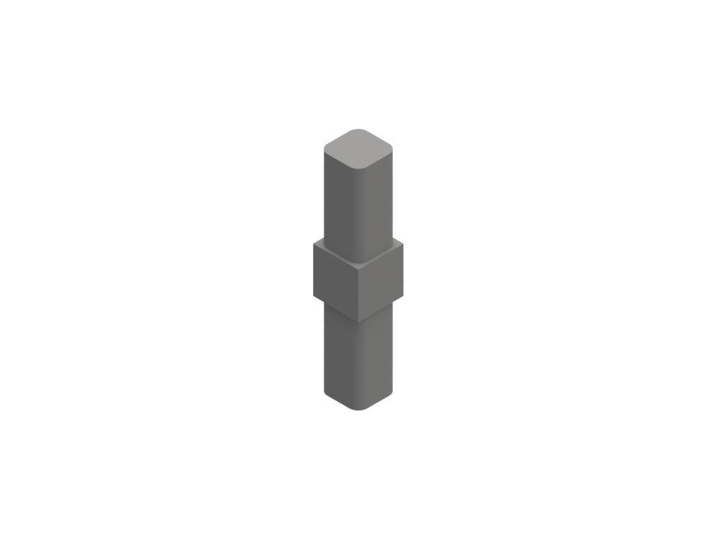 2807701 signtech ABS spojka dvousměrná rovná hliníkových profilů nextline G251