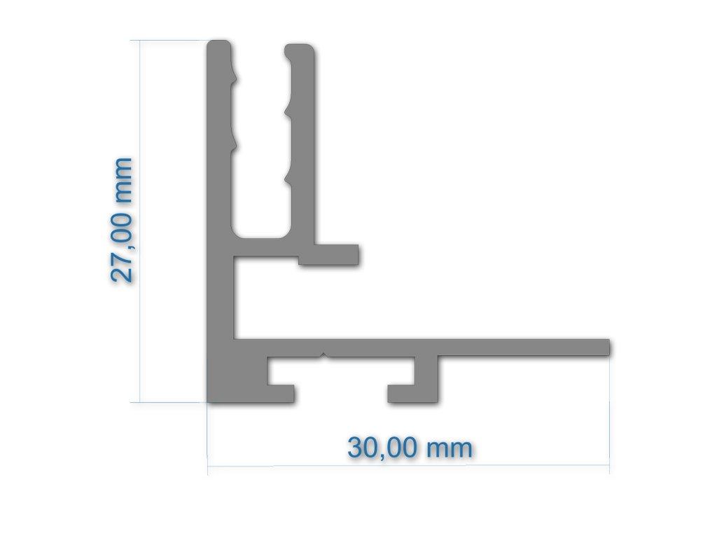 2007 tx profil 27x30 mm 6 m ral9005 mat
