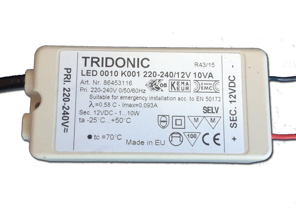 2127 zdroj tridonic 10w 12vdc ip20