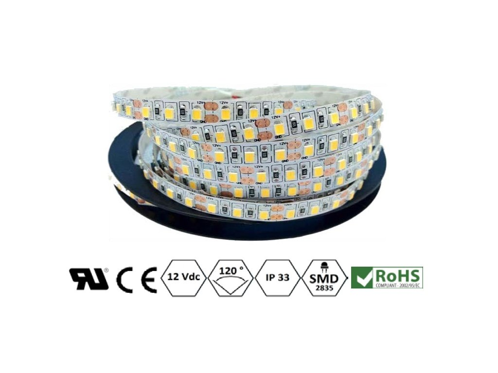ECO LED pásek 8 mm | 9,6 W | 120x2835 | IP33 | 4.000K