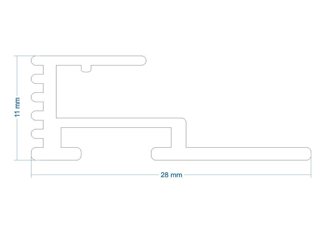 10211 hlinikovy profil lgp sticker lumisheet