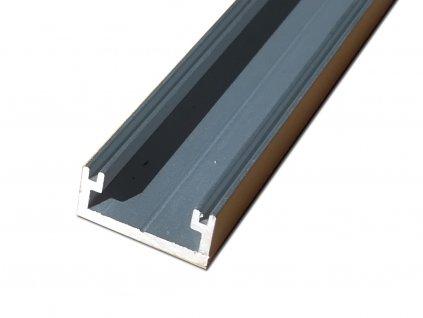Profil pro led pásky | rovný | elox s krytkou