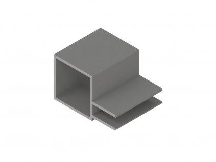 2807710 signtech hliníkový rámovací profil s jednou drážkou nextline N2510 elox