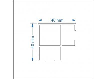 2807715 signtech al profily výstavní rám s deskou rohový drážka 10mm nextline N2560 elox
