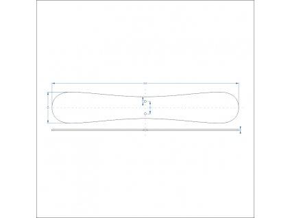 2805135 signtech ocelová lakovaná noha pro oboustranné světelné panely roll up 600x100x5mm