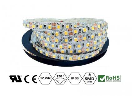 ECO LED pásek 8 mm | 9,6 W | 120x2835 | IP33 | 4.000K