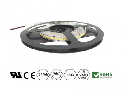 ECO LED pásek 5 mm | 120x2835 | 9,6W | 24VDC | 4.000K