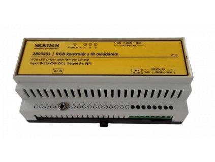 RGB 05 kontrolér s IR dálkovým ovládáním 3x16A 2803401 2