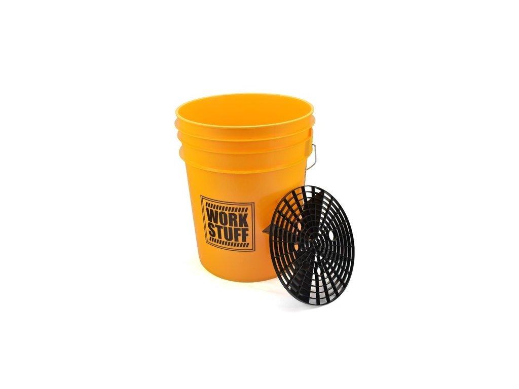 WORK STUFF žlutý kbelík s vložkou 1
