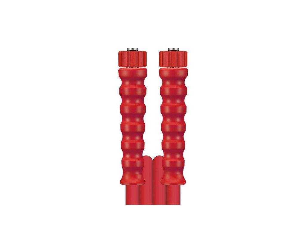 Tlaková hadice DN8 koncovky M22M22 315 bar 1SN do 150°C 10 m červená