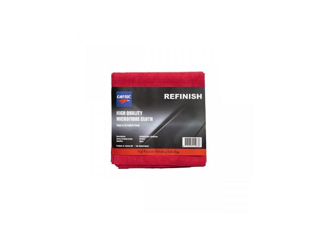 CARTEC REFINISH RED Scratch free sada 5 ks mikrovláken 40x40 cm