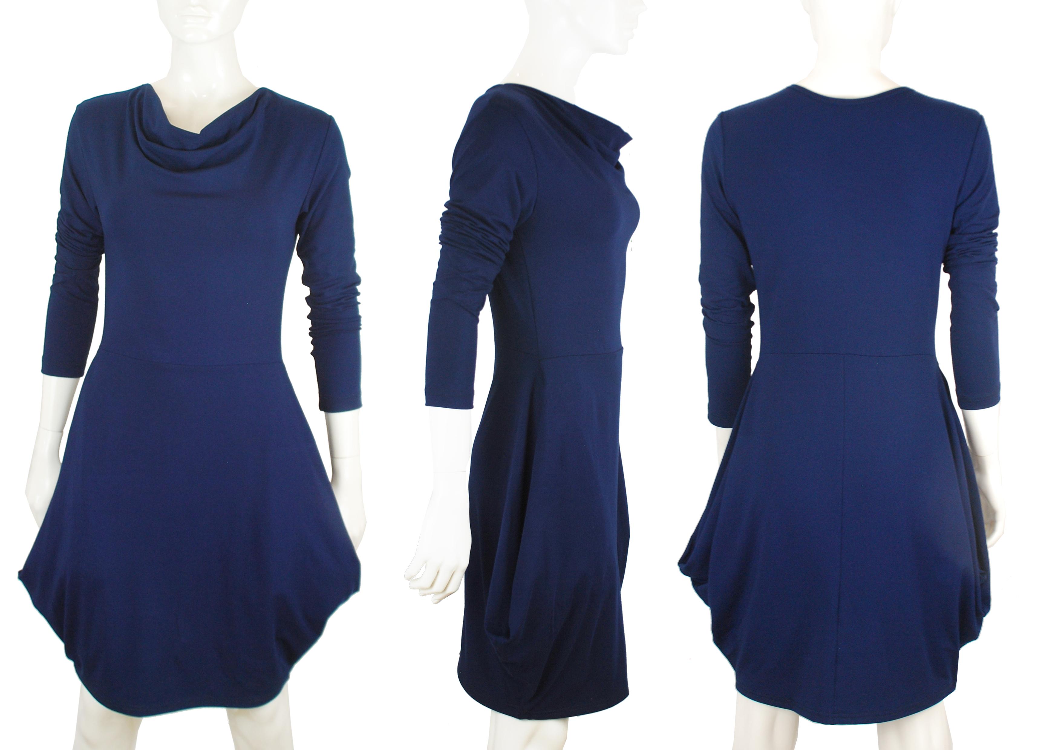 Střih a návod na úpletové šaty s vodou  Dagmar