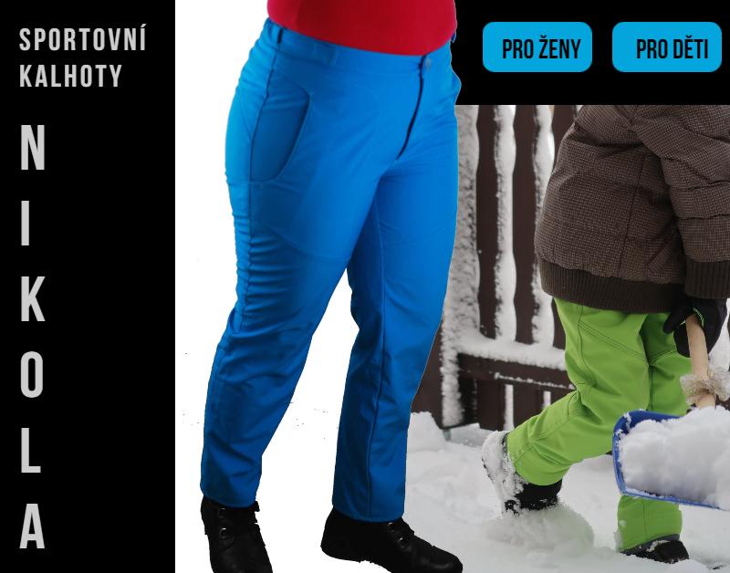 Střih a návod na sportovní kalhoty Nikola (dámské/dětské)