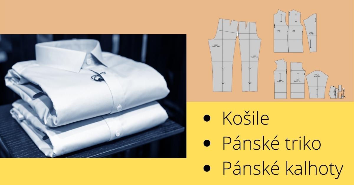 Základní střihy na pánské oblečení