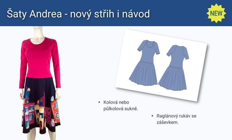 Nový střih a návod na šaty Andrea