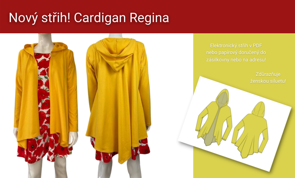 Nový střih na cardigan Regina v eshopu