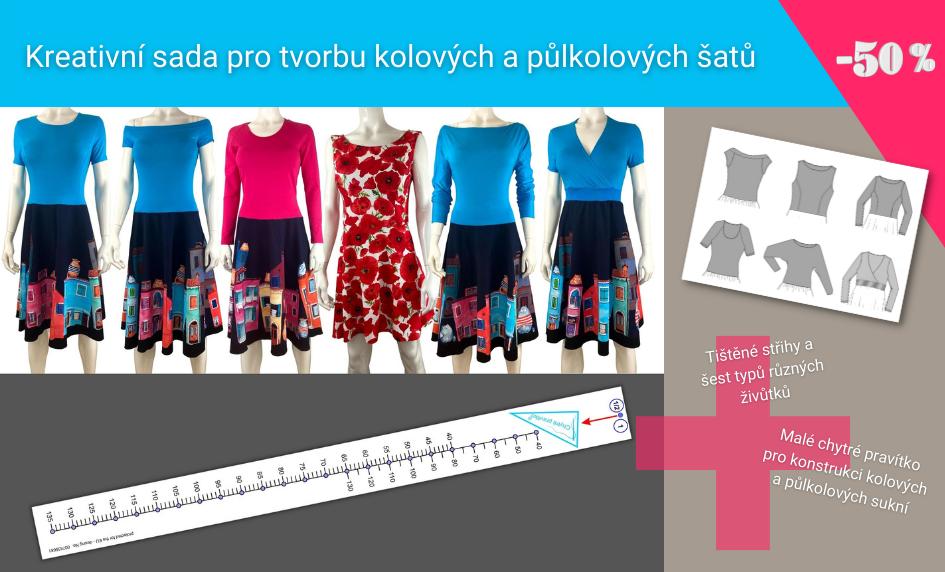 Sada kolové/půlkolové sukně