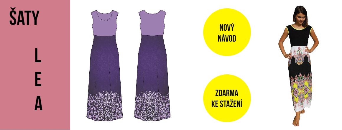 Šaty Lea - nově návod zdarma ke stažení